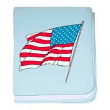 American Flag In Wind baby blanket