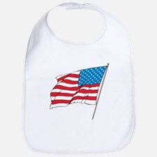 American Flag In Wind Bib