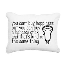 Lacrosse Happiness Rectangular Canvas Pillow