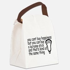 Lacrosse Happiness Canvas Lunch Bag