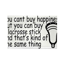 Lacrosse Happiness Rectangle Magnet