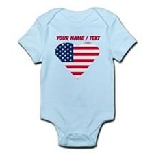 Custom American Flag Heart Body Suit
