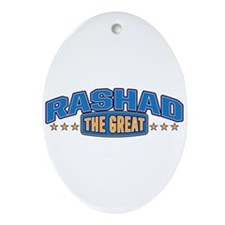 The Great Rashad Ornament (Oval)