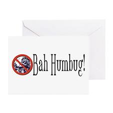 BAH HUMBUG Anti Santa Christmas Cards (Pack of 6)