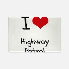 I Love Highway Patrol Rectangle Magnet