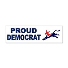 Proud Democrat (donkey) Car Magnet 10 x 3