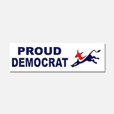 Proud Democrat (donkey) Car Magnet 10 x 3