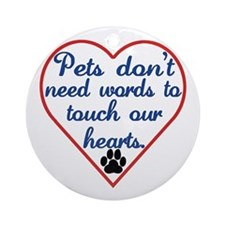 Touch Your Heart v4 Ornament (Round)