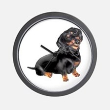 Black-Tan Dachshund Wall Clock