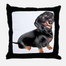 Black-Tan Dachshund Throw Pillow