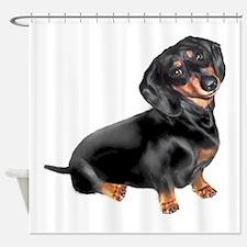 Black-Tan Dachshund Shower Curtain