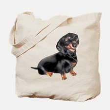 Black-Tan Dachshund Tote Bag