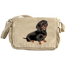 Black-Tan Dachshund Messenger Bag
