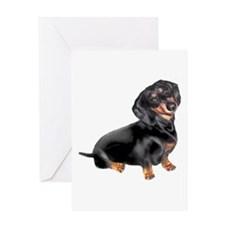 Black-Tan Dachshund Greeting Card