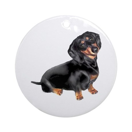 Black-Tan Dachshund Ornament (Round)