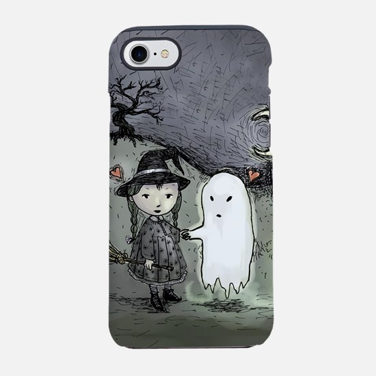 witch-loves-ghost_12x18v.jpg iPhone 7 Tough Case