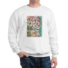 wisconsin map Sweatshirt