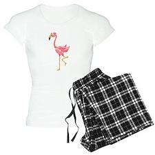 Funky Pink Flamingo Art Pajamas
