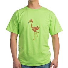 Funky Pink Flamingo Art T-Shirt