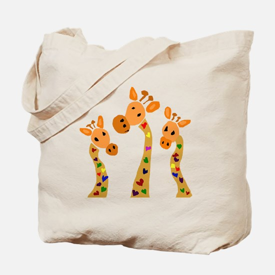 Whimsical Giraffe Art Tote Bag