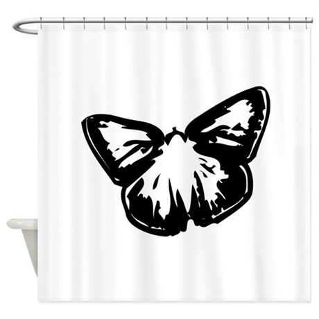Butterfly Design Shower Curtain By Butterflygifts