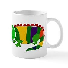 Funky Colorful Iguana Art Mug
