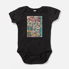 wisconsin map Baby Bodysuit