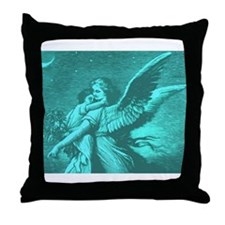 Good Night angel Throw Pillow
