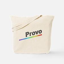 Vintage Provo Rainbow Tote Bag