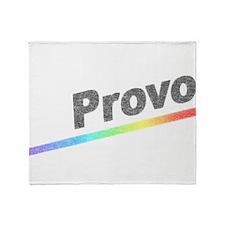 Vintage Provo Rainbow Throw Blanket