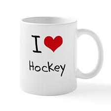 I Love Hockey Small Mug