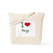 I Love Hogs Tote Bag