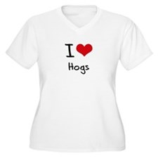 I Love Hogs Plus Size T-Shirt