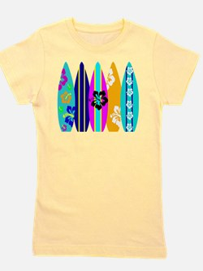 Surfboards Girl's Tee