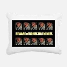 Domestic Enemies Rectangular Canvas Pillow