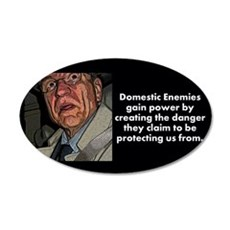Domestic Enemies 20x12 Oval Wall Decal