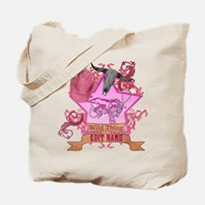 CowGirl Wild Thing edit name text Pink Hat Tote Ba