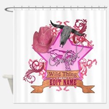CowGirl Wild Thing edit name text Pink Hat Shower