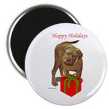 bullmastiff holiday design Magnet