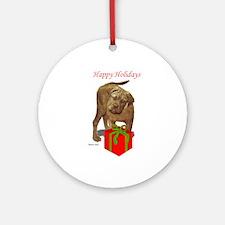 bullmastiff holiday design Ornament (Round)