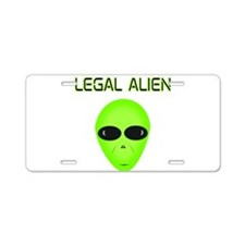 Legal Aliend Aluminum License Plate