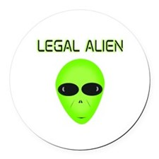Legal Aliend Round Car Magnet
