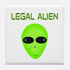 Legal Aliend Tile Coaster