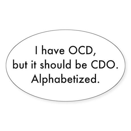 OCD Oval Sticker