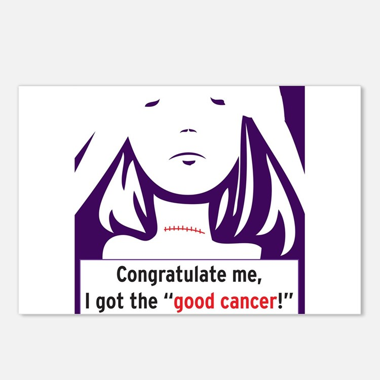 the good cancer woman Postcards (Package of 8)