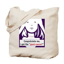 the good cancer woman Tote Bag