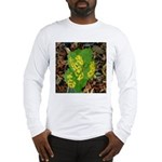 Yellow Flowers On Green Leave Long Sleeve T-Shirt