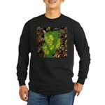 Yellow Flowers On Green Leave Long Sleeve Dark T-S