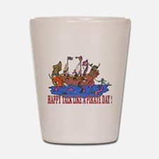 Happy Talk like A Pirate Day Shot Glass