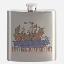 Happy Talk like A Pirate Day Flask